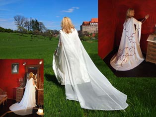 Wedding dress train